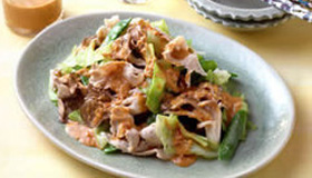 Chinese-style Salad of Maitake & Cabbage